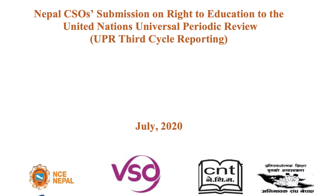 UPR Report – NCE-Nepal
