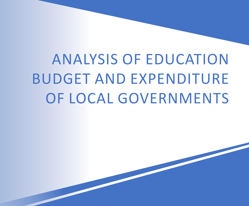 ANALYSIS OF EDUCATION BUDGET
