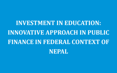 INVESTMENT IN EDUCATION:INNOVATIVE APPROACH IN PUBLIC FINANCE IN FEDERAL